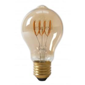 Calex - Calex LED Full Glass Flex Filament GLS-lamp 240V 4W 200lm E27 A60DR, Gold 2100K Dimmable - Vintage Antique - CA0250-1...