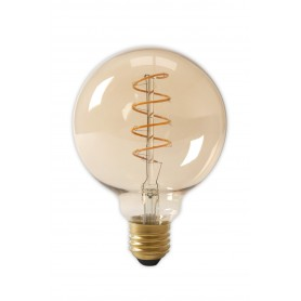 Calex - E27 LED Flex Filament Globe Lamp 240V 4W 200lm G125, Gold 2100K Dimmable - Vintage Antique - CA0252-1x www.NedRo.us