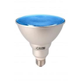 Calex - Blauw E27 20W 240V AC Calex Sealed Beam E-spaarlamp PAR38 - Spaarlampen - CA0317-10x www.NedRo.nl