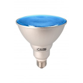 Calex, Blue E27 20W 240V AC Calex Sealed Beam E-saving lamp PAR38, Energy saving lamps, CA0317-CB