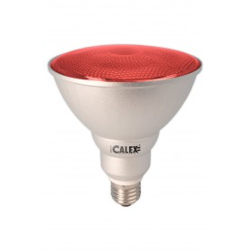 Calex - Red E27 20W 240V AC Calex Sealed Beam E-saving lamp PAR38 - Energy saving lamps - CA0320-1x www.NedRo.us