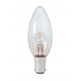 Calex - B35 BA15D 28W 230V Bec Halogen formă lumanare sticlă transparentă - Lămpi halogene - CA0345-1x www.NedRo.ro