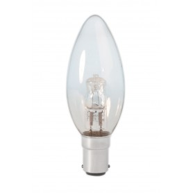 Calex, B35 BA15D 28W 230V Halogen candle shape lamp clear glass, Halogen Lamps, CA0345-CB, EtronixCenter.com