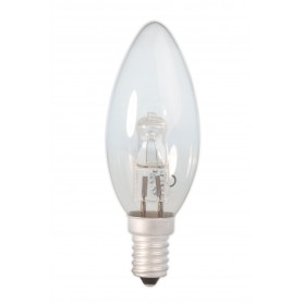 Calex, E14 42W 230V Halogen Candle shape lamp B35 energy saving cristal clear, Halogen Lamps, CA0348-CB, EtronixCenter.com