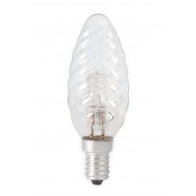 Calex, Calex E14 28W (37W) Bec tip lumânare cu halogen cu bucle 230V BW35 cristal clar, Lămpi halogene, CA0352-CB, EtronixCen...