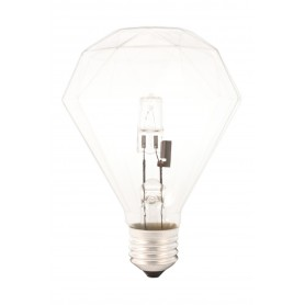 Calex, E27 230V 42W Halogen diamond lamp - Crystal clear, Halogen Lamps, CA0354-CB