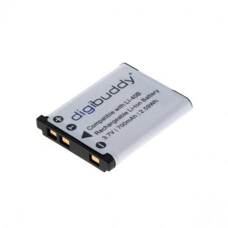 digibuddy - Battery for Olympus LI-40B / Nikon EN-EL10 / Fuji NP-45 Li-Ion - Olympus photo-video batteries - ON1589 www.NedRo.us