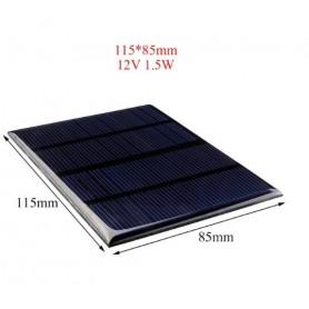 NedRo - 12V 1.5W 115x85mm Mini solar panel - Solar panels - AL129-C www.NedRo.us