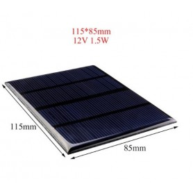 NedRo - 12V 1.5W 115x85mm Mini solar panel - DIY Solar - AL129