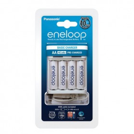 Panasonic USB-Charger Basic BQ-CC61USB incl. 4 eneloop AA