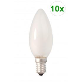 Calex - Calex Kaarslamp 240V 10W 50lm E14 mat - E14 - CA0420-10x www.NedRo.nl
