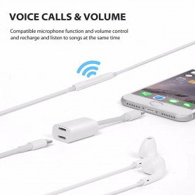 NedRo, iPhone 7 / 7 Plus Duo - Audio DataSync Charge cable, iPhone data cables , AL591-CB, EtronixCenter.com