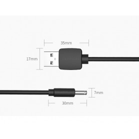 Vention, 3.5mm DC to USB 2.0 80cm charging cable, Plugs and Adapters, V010-CB