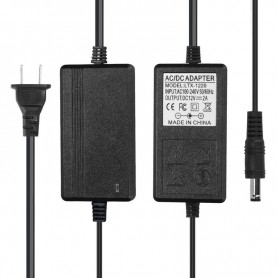 NedRo, 2A 12V DC 100-24V Adaptor Alimentare Bandă cu LED - US Plug, Mufe și adaptoare, APA09, EtronixCenter.com