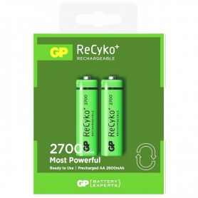 GP - 2pc. GP AA 2700mAh Rechargeable Battery - Size AA - BL269 www.NedRo.us