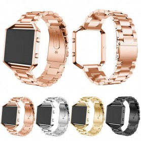 NedRo - Metal bracelet for Fitbit Blaze with frame - Bracelets - AL138-CB