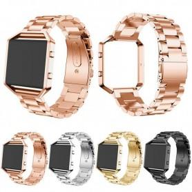 NedRo - Metalen armband voor Fitbit Blaze met behuizing - Armbanden - AL138 www.NedRo.nl