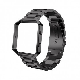 NedRo - Metal bracelet for Fitbit Blaze with frame - Bracelets - AL138-C-CB www.NedRo.us