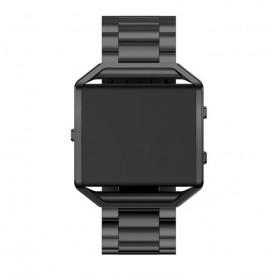 NedRo - Metalen armband voor Fitbit Blaze met behuizing - Armbanden - AL138-BL www.NedRo.nl
