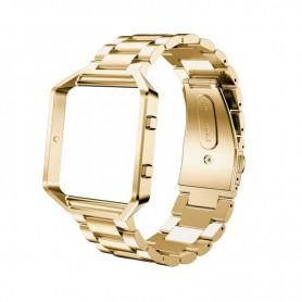 NedRo - Metalen armband voor Fitbit Blaze met behuizing - Armbanden - AL138-GL-C www.NedRo.nl