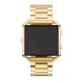 NedRo - Metalen armband voor Fitbit Blaze met behuizing - Armbanden - AL138-GL www.NedRo.nl