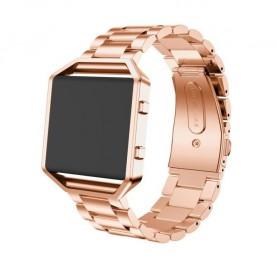 NedRo - Metalen armband voor Fitbit Blaze met behuizing - Armbanden - AL138-C-CB www.NedRo.nl