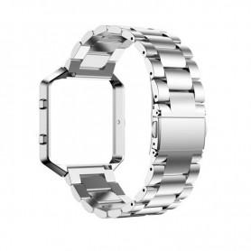 NedRo - Metalen armband voor Fitbit Blaze met behuizing - Armbanden - AL138-SI-C www.NedRo.nl
