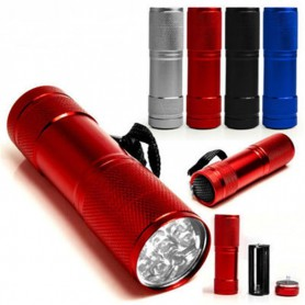 NedRo - Mini 9 LED Aluminium UV Ultra Violet Flashlight purple light - Lanterne - LFT30 www.NedRo.ro