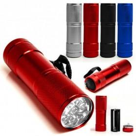 NedRo - Mini zaklamp 9 LED Aluminium UV Ultra Violet paars licht - Zaklampen - LFT30 www.NedRo.nl