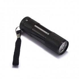 NedRo - Mini 9 LED Aluminium UV Ultra Violet Flashlight purple light - Flashlights - LFT30-C www.NedRo.us
