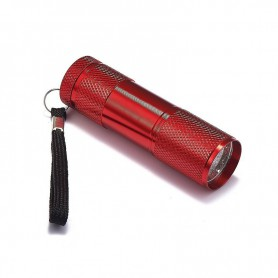 NedRo - Mini 9 LED Aluminium UV Ultra Violet Flashlight purple light - Flashlights - LFT30-C-CB www.NedRo.us