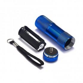 NedRo - Mini zaklamp 9 LED Aluminium UV Ultra Violet paars licht - Zaklampen - LFT81-C www.NedRo.nl
