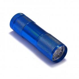 NedRo - Mini zaklamp 9 LED Aluminium UV Ultra Violet paars licht - Zaklampen - LFT30-CB www.NedRo.nl
