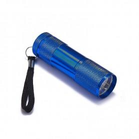 NedRo - Mini 9 LED Aluminium UV Ultra Violet Flashlight purple light - Flashlights - LFT30-C-CB www.NedRo.us