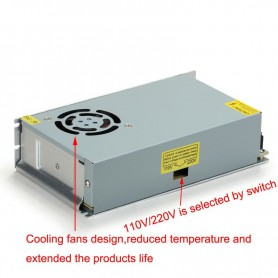 NedRo - DC24V 10A 240W Switching Power Supply Adapter Driver Transformer - LED Transformers - SPS28-C www.NedRo.us