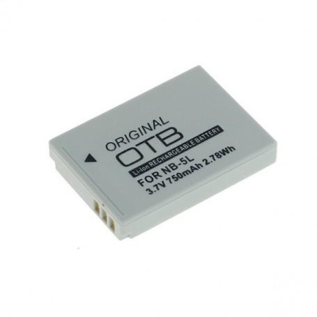 OTB, Batterij voor Canon NB-5L 3.7V 750mAh Li-Ion, Canon foto-video batterijen, ON1390, EtronixCenter.com