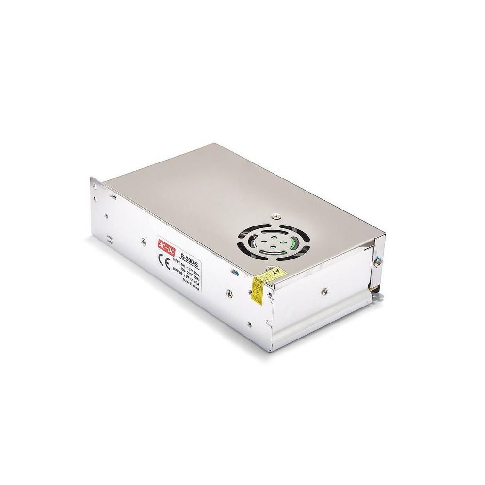 NedRo - DC5V 40A 200W Schaltnetzteil Adapter Treiber Transformator - LED Transformers - SPS61 www.NedRo.de