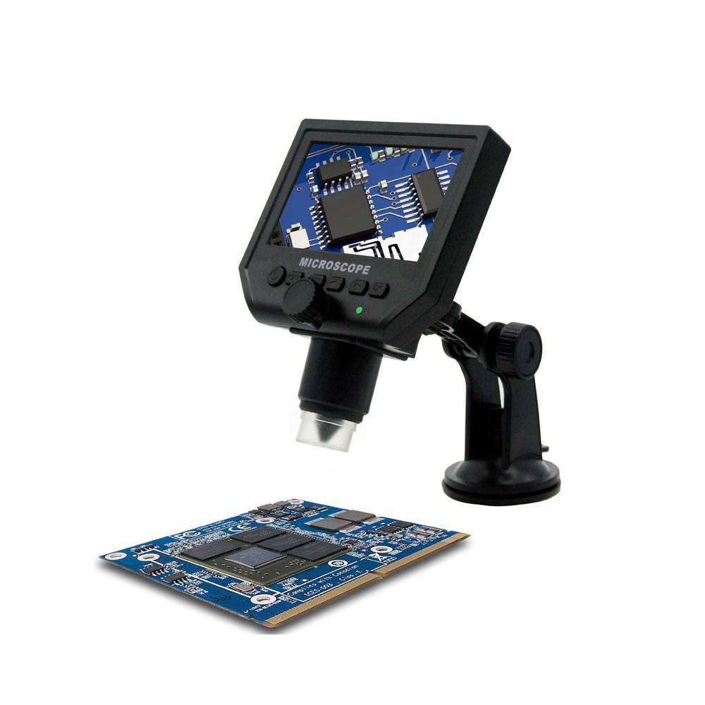 Datyson Optics - 1-600X 3.6MP 4,3 Zoll HD OLED LCD Digital Mikroskop mit vakuumsaugerbasis - Magnifiers microscopes - AL144 w...