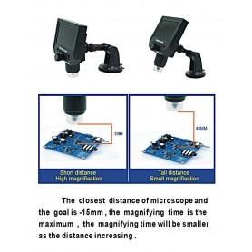 Datyson Optics - 1-600X 3.6MP 4.3 inch HD OLED LCD Microscop digital cu bază de fixare în vid - Lupe și Microscoape - AL144-C...