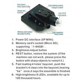 Datyson Optics - 1-600X 3.6MP 4.3 inch HD OLED LCD Microscop digital cu bază de fixare în vid - Lupe și Microscoape - AL144 w...
