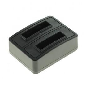 Dual Battery Chargingdock compatible met QUMOX Actioncam SJ4000