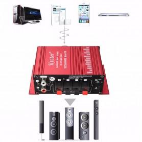 NedRo - RCA Tulp 2-kanaals hifi-stereoversterker audio versterker - Audio adapters - AL146-RE-C www.NedRo.nl