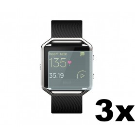 NedRo - 3 pieces - Screen Protector for Fitbit Blaze - Fitbit protective foil / glas - AL529-CB