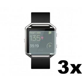 NedRo - 3 Stuks - Beschermfolie voor Fitbit Blaze - Fitbit beschermfolie / glas - AL529-CB www.NedRo.nl