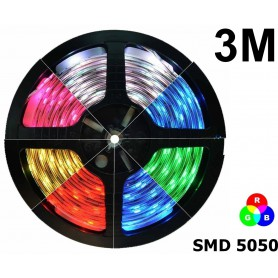 NedRo - IP20 RGB LED Strip SMD5050 60led p/m - LED Strips - AL968-3M www.NedRo.us