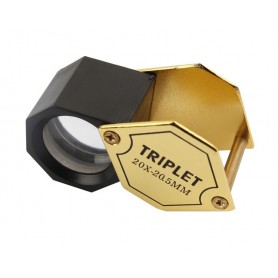 NedRo - 20x-zoom goudkleurig 20.55mm juwelen vergrootglas - Loepen en Microscopen - AL149 www.NedRo.nl