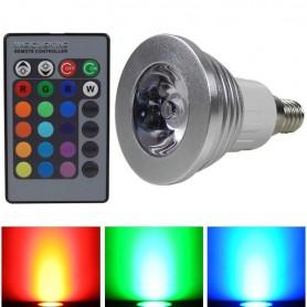 E14 4W 16 klueren RGB LED lamp met afstandsbediening