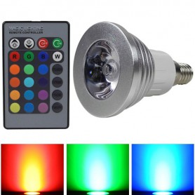E14 3W 16 Color Dimmable LED Bulb with Remote Control