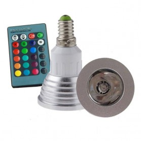 NedRo, E14 4W 16 Color Dimmable LED Bulb with Remote Control, E14 LED, AL151-CB