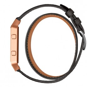 OTB - Infinity Leather Bracelet for Fitbit Blaze without Housing - Bracelets - AL152-BL www.NedRo.us